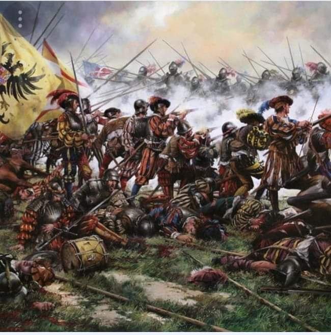 Hoy se cumple el 494 aniversario de la batalla de Pavía. Fue, por su contexto y su desarrollo, un puntal que sirvió para la creación posterior de los Tercios.  Francisco I, rey de Francia, quedó capturado y la Monarquía Hispánica elevó su poder hasta el máximo esplendor. https://t.co/hAzQlIviJi