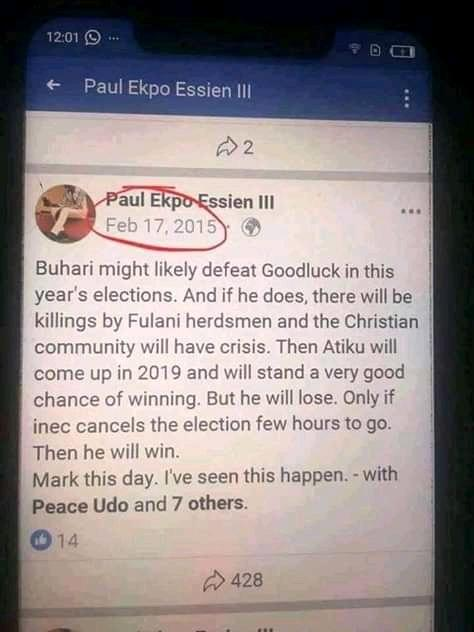 Seers everywhere.. #AtikuIsWinning #BuhariIsWinning #ElectionResults2019  Check this out.. 👇👇