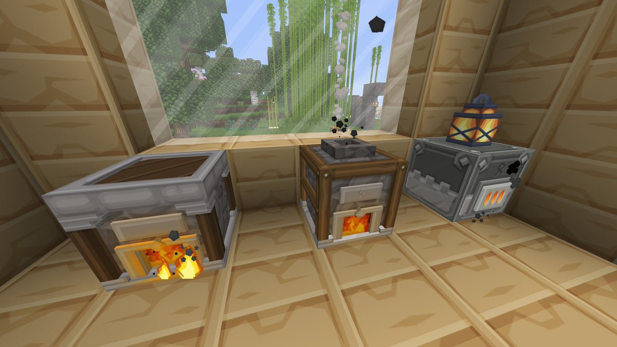 Purebdcraft On Twitter Stone Cutter Camp Fire New Crafting Table Good Old Furnace Smoker And Blast Furnace Ready With Custom 3d Models And Hd Textures For Purebdcraft In Minecraft Https T Co B2dac71usg