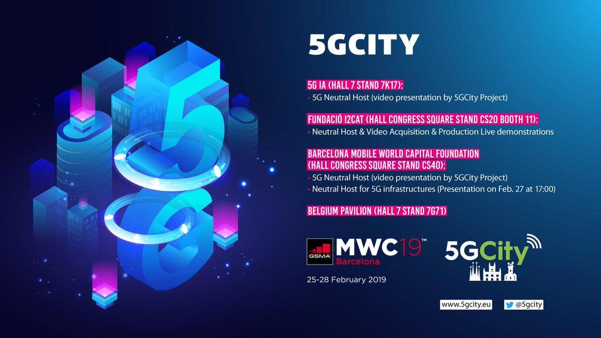 Risultato immagini per mobile world congress 2019 5GCITY