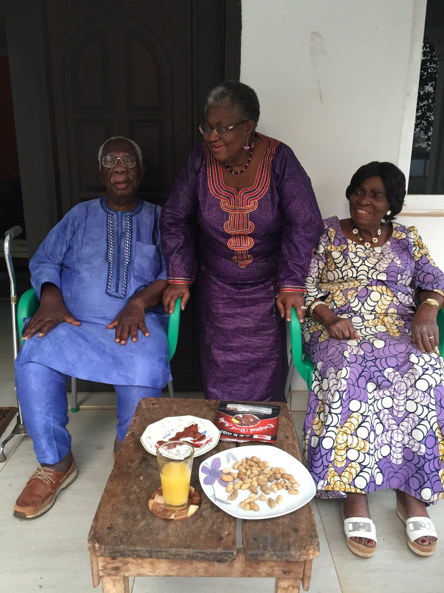 "Ngozi Okonjo-Iweala on Twitter: ""Proud that my father, Prof Chukwuka Okonjo  the Obi of Ogwashi-Uku, and my mother, Prof Kamene Okonjo, exercised their  right to vote at ages 90 and 88 respectively."