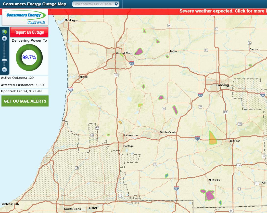 Battle Creek Power Outage Map.Lynsey Mukomel On Twitter We Re Beginning To See Outages Pop Up