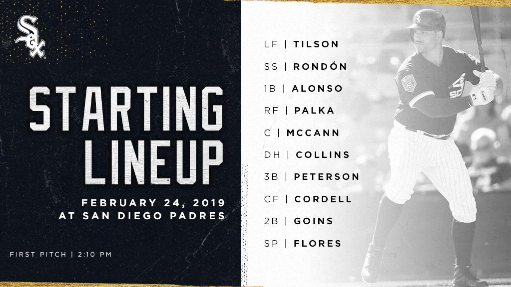 Today&#39;s #SoxSpringTraining starters: <br>http://pic.twitter.com/gDj8bnGyYK