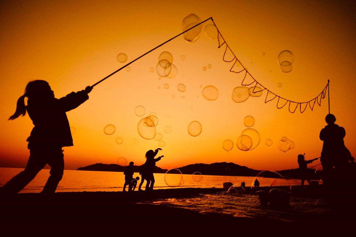 虹ヶ浜がゆめのせかい。  #シャボン玉おじさん https://t.co/ueD2HxAUoe