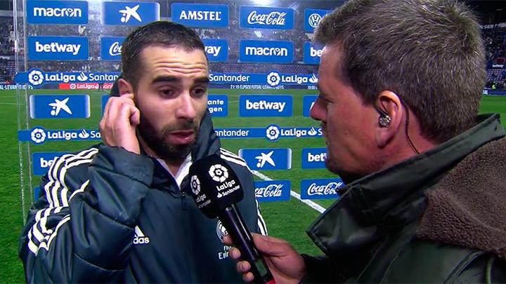 """""""Estoy a 25 metros y escucho la patada"""", Carvajal sobre el penalti a Casemiro. #MovistarPartidazo"""