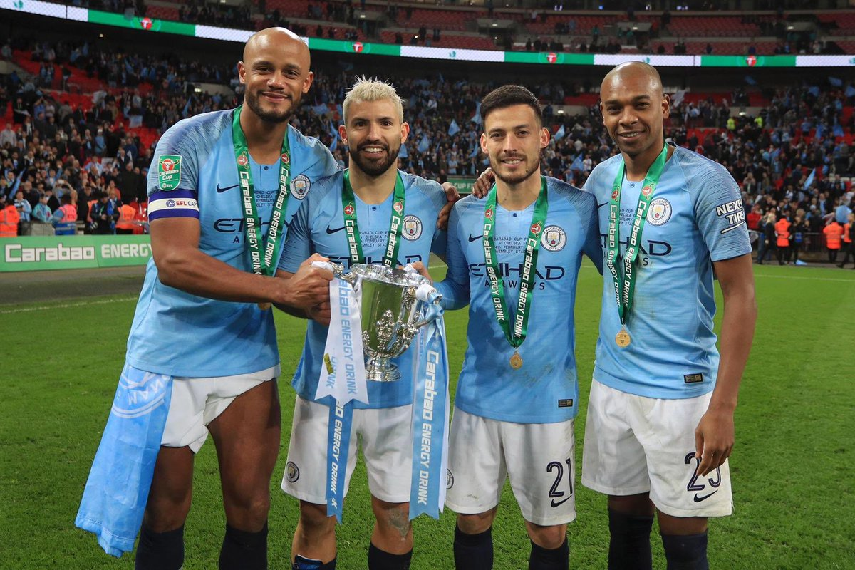These guys.. 🙌🏾 🏆 🏆 🏆 🏆 Well done to the team, we fought and kept fighting till the end. #ManCity #LeagueCup