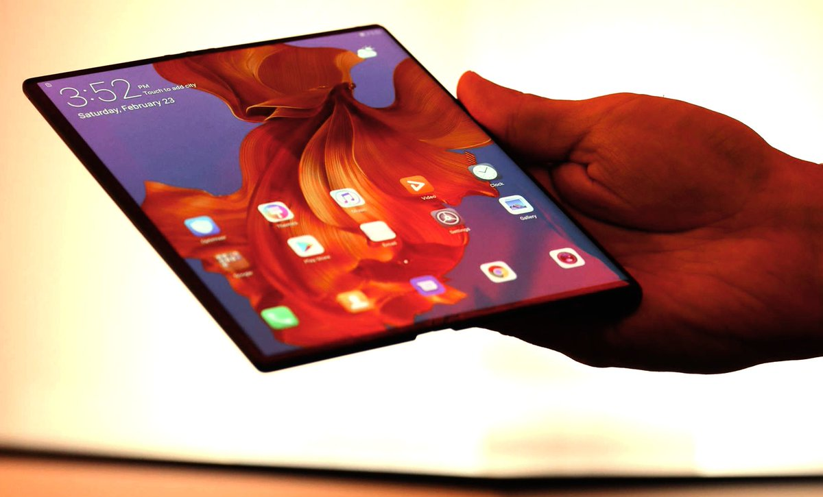 A first look at Huawei's folding phone, the Mate X