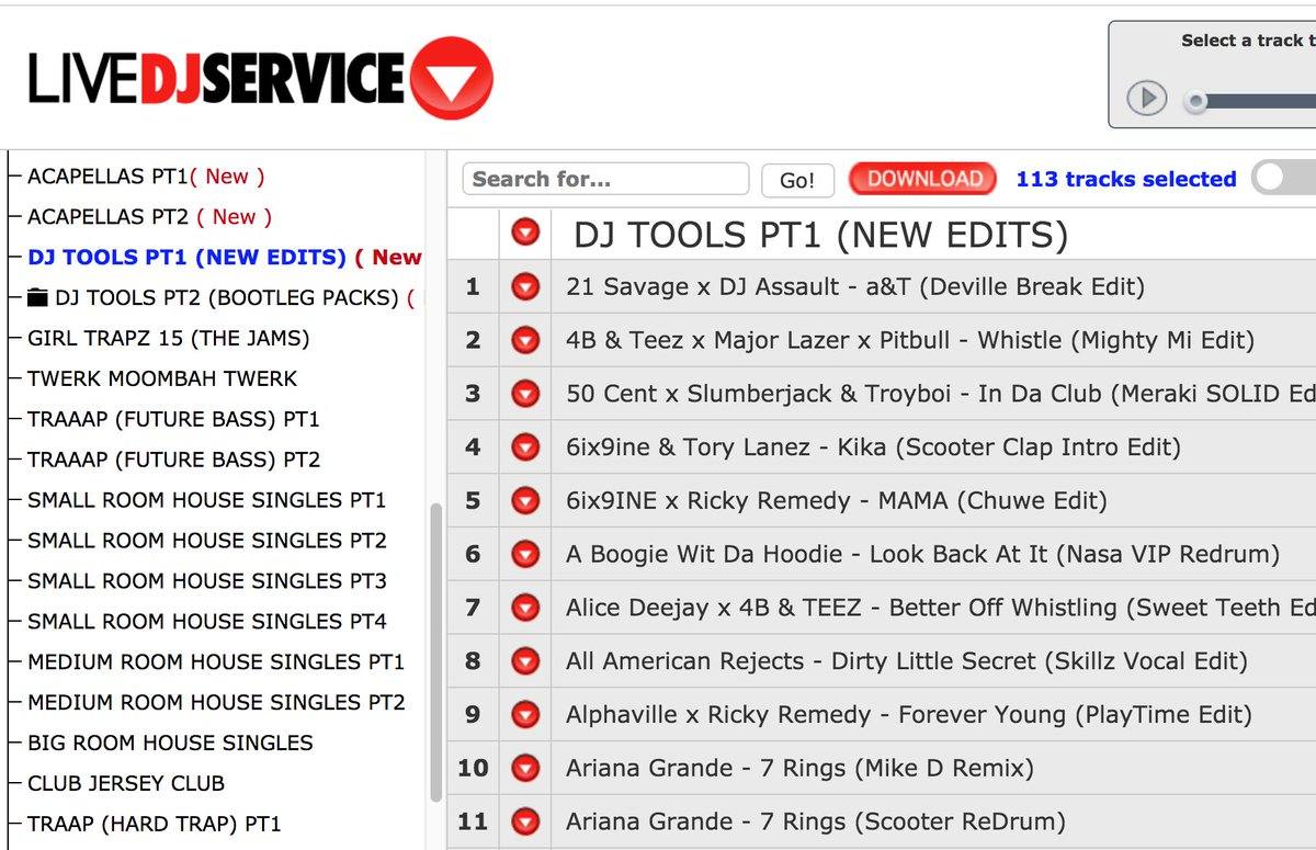 yo DJs! the LIVE DJ SERVICE is updated with a buncha new new edits