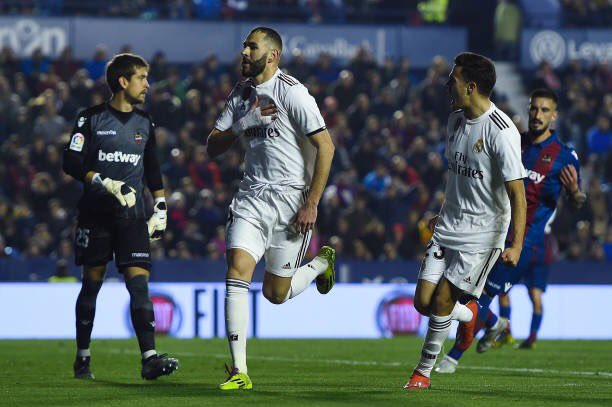 هدف ريال مدريد الأول في مرمي ليفانتي