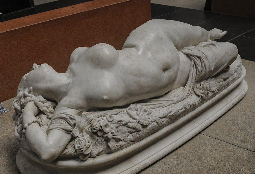 О.Клезенже. Женщина, ужаленная змеей. 1847