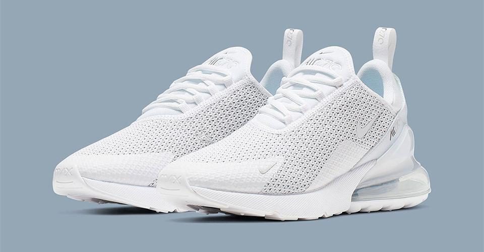 1d9299033e06ec nike gives the air max 270 a sleek pure platinum revamp