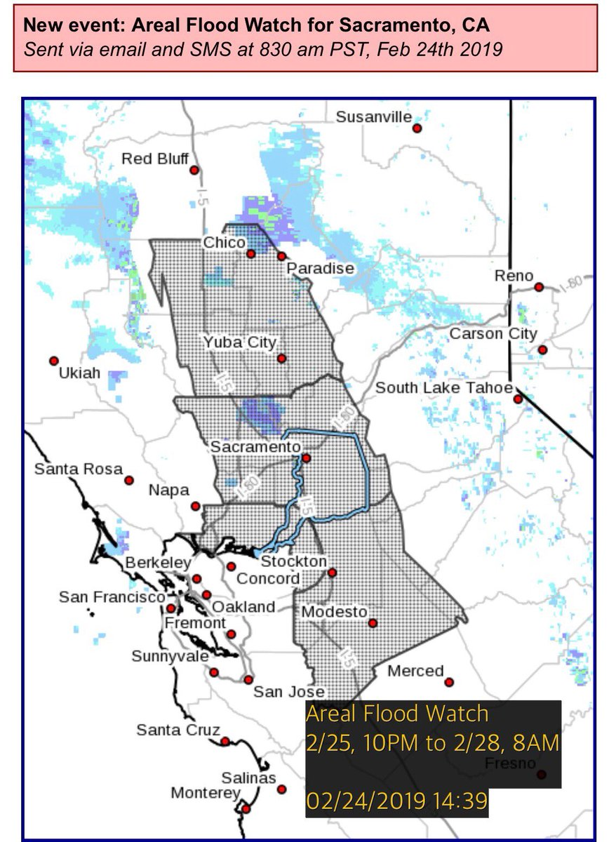 SacramentoOES on Twitter: \'A flood watch