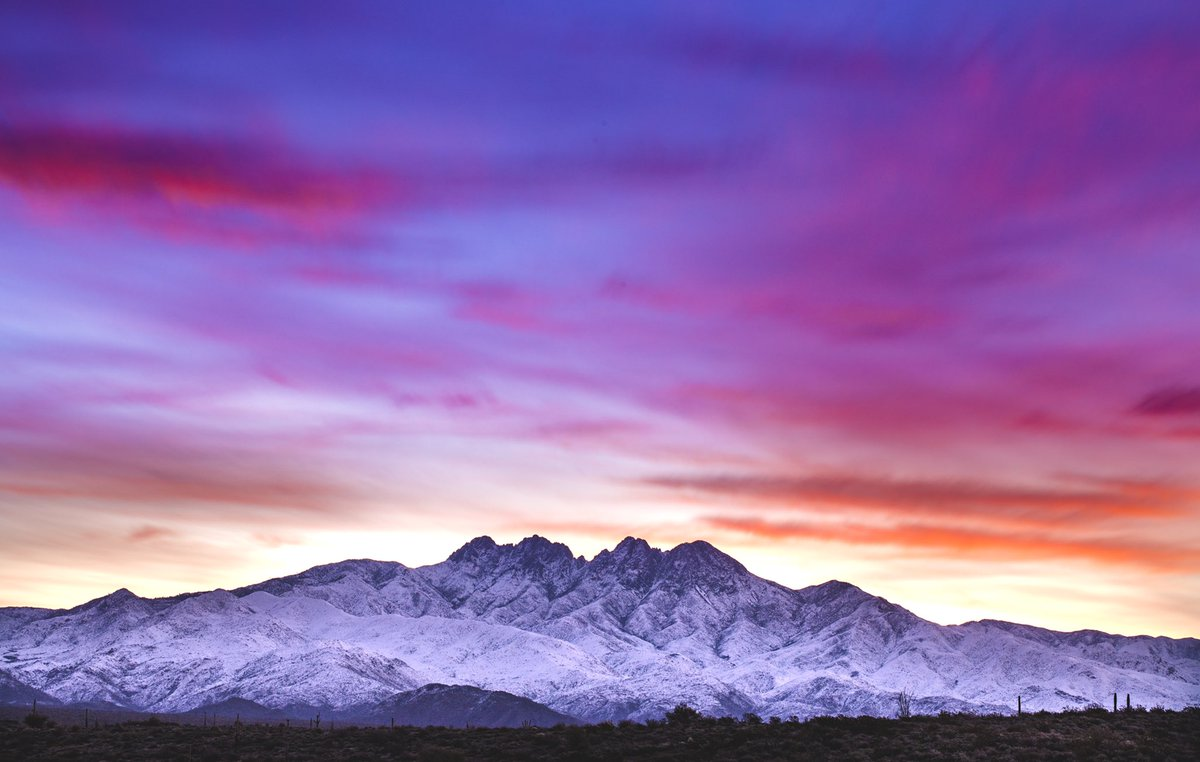 Four peaks this morning was gorgeous!