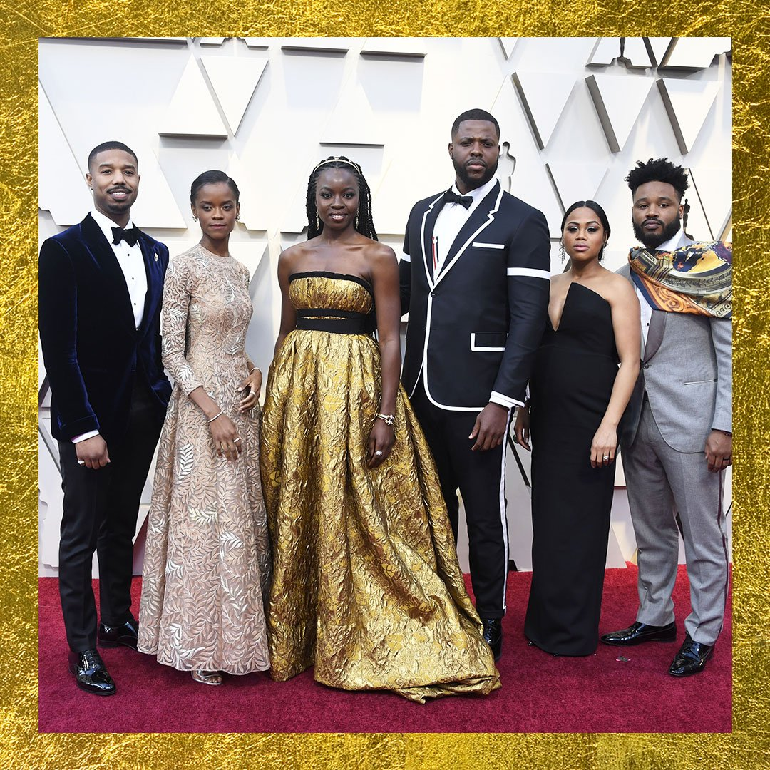 eac385c91e063 The  BlackPanther cast came through looking like straight royalty at the   Oscars! 🙌