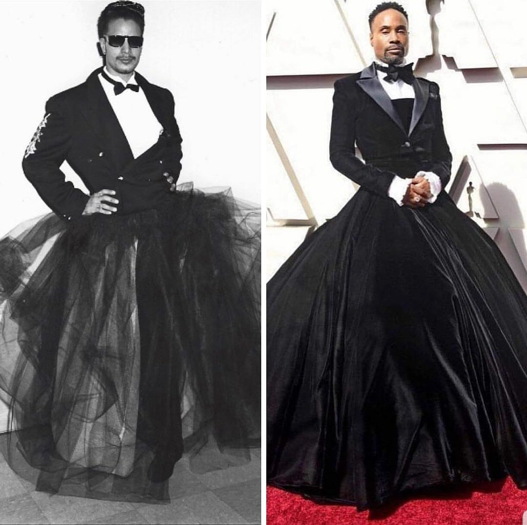 POSE star Billy Porter pays homage to ballroom icon, the Legendary Grandfather Hector Xtravaganza of the House of Xtravaganza, on Academy Awards Red Carpet