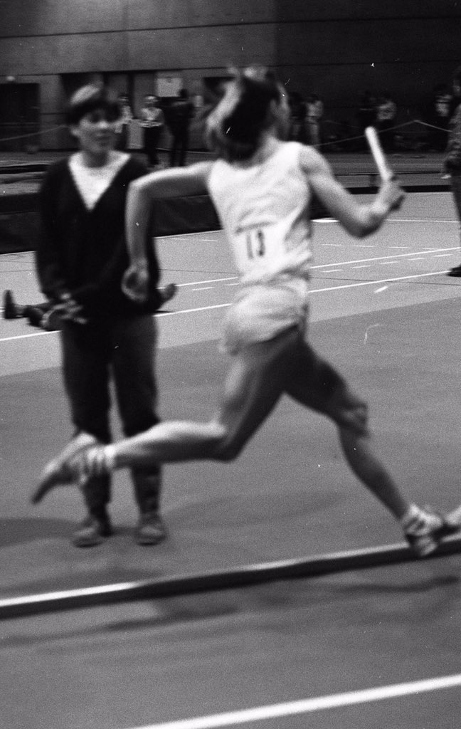 Tested for steroids 'cause how could she have muscles like that? #crazy me at 27 in 1984 #track #muscles #nosteroids #girlcanrun #justdoit