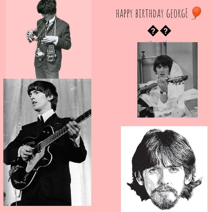 to george harrison, an amazing dude I wished stayed longer here,happy bday