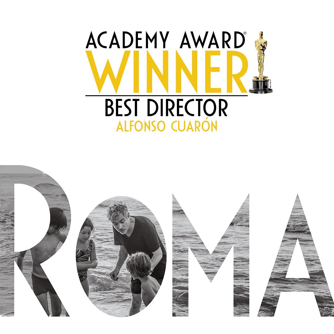Congratulations to @alfonsocuaron for winning the Academy Award for Best Director. #ROMACuarón #Oscars