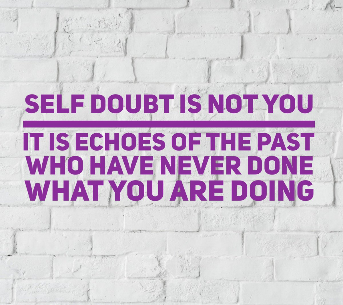 Self doubt is not you. It's echoes of the past, who have never done what you're doing. Learn to silence them. Let's #rewire #refocus #reengage #womenwhohustle #mawb #mawbfebruary #earlyriser #focus #passion #selfdoubt #selftalk #selfconfidence #businesscoach #businesscoaching