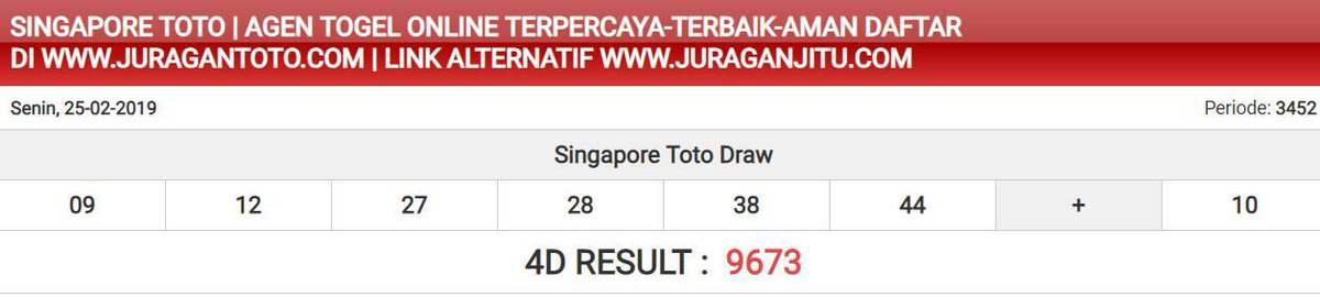 Toto Result 2019