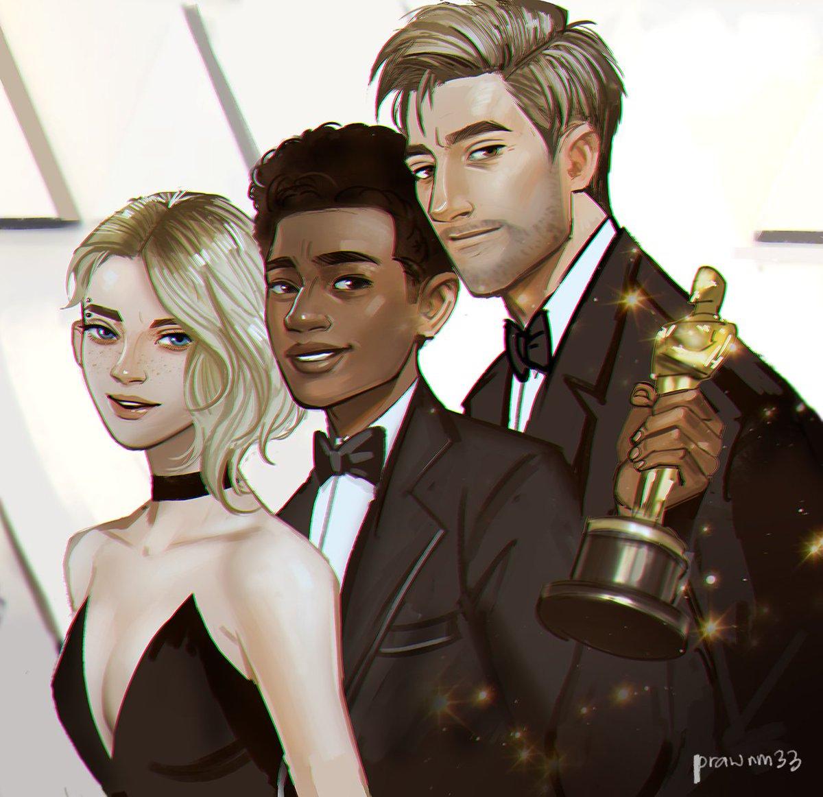 Congratulations 😭 #SpiderVerse #Oscars2019