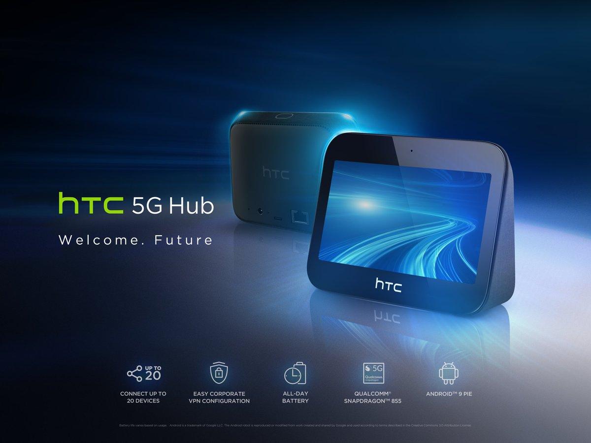 HTC est à la pointe de la technologie 5G avec le lancement du HTC 5G Hub, le premier hub mobile offrant une connectivité à des vitesses fulgurantes. En savoir plus sur https://t.co/LMARv55dUd https://t.co/fsrat12NnQ