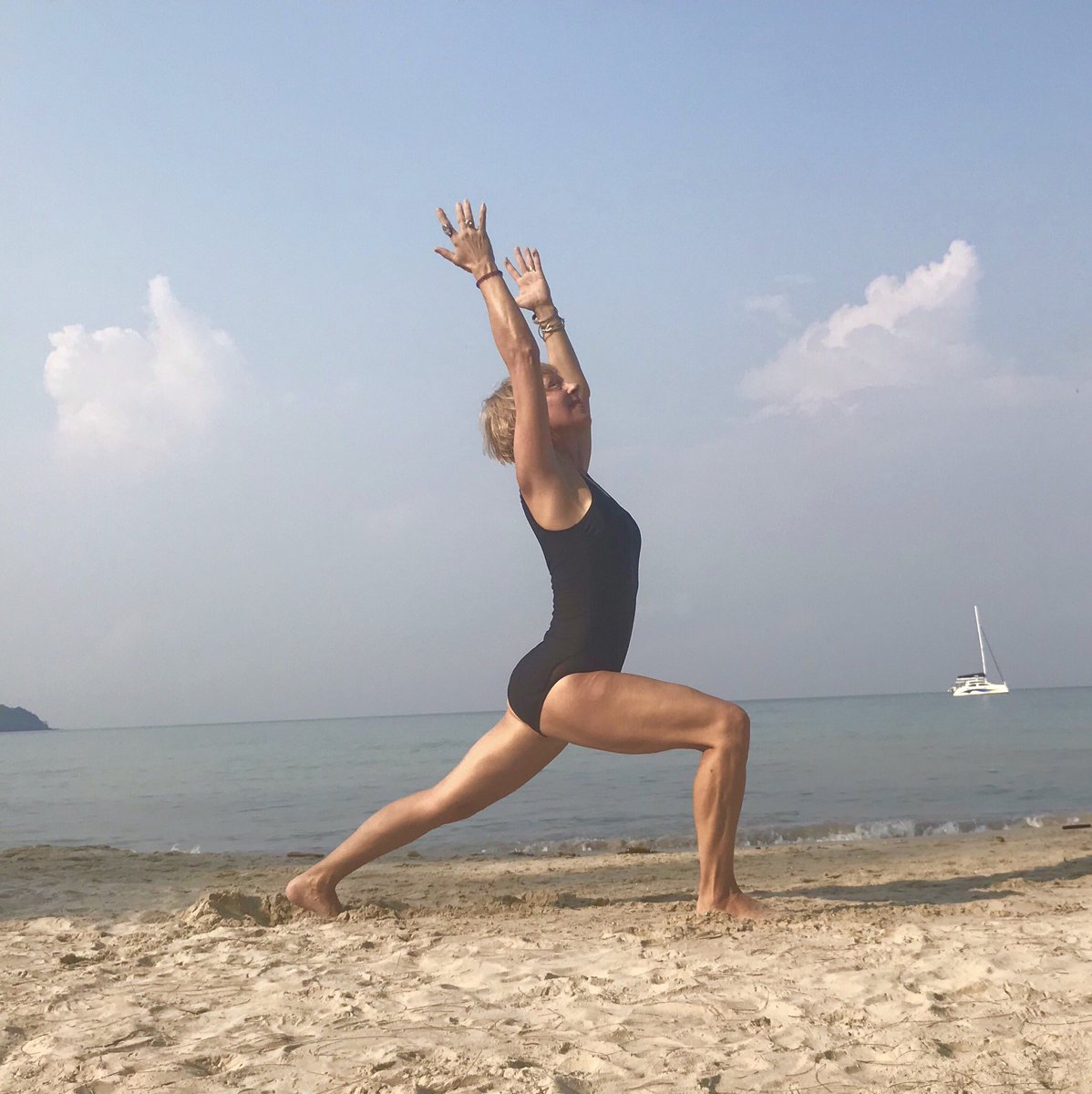 Now.   At 62.   #justdoit #thailand #formerjock #yoga
