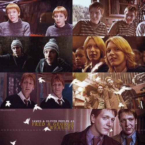 Happy 33rd Birthday Oliver and James Phelps! Thanks for being our perfect Weasley twins!