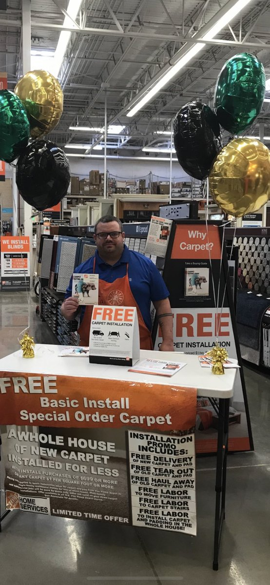 Come Down To The Wilkins Home Depot And See Ian Learn About Our Free Carpet