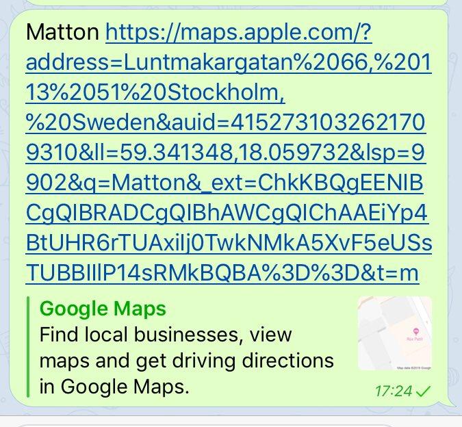 Links In Telegram
