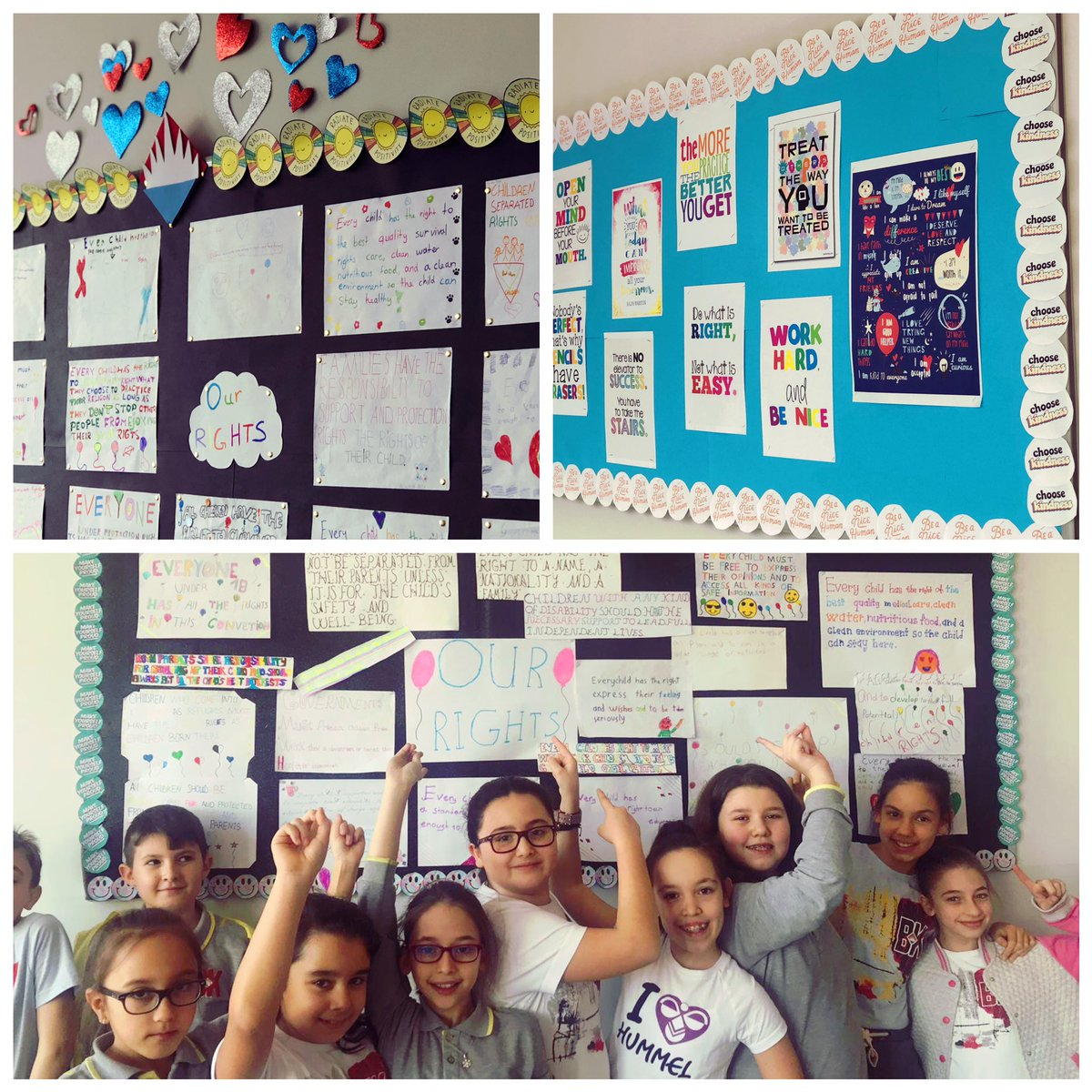 Our 5th graders prepared posters and motivational quotes about Childrens' Rights! 💫✨  @UNICEF #childrensrights  @BK_Luleburgaz @altan_azaplar @DuyguPeran @eypaksar