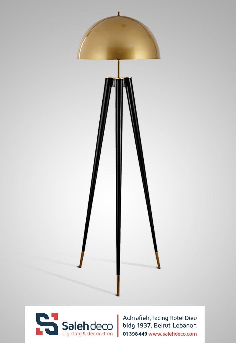 This golden tripod floor lamp will bring luxurious touch to your home.   Achrafieh facing hotel dieu ☎️ 01398449   #Lamp #homedecor #lighting #interiordesign #decor #design #chandelier #lightingdesign #deco #salehdeco https://t.co/LbIdHzTLLk