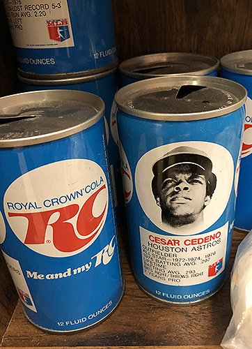 Happy birthday to former Houston Astro César Cedeño, here he is on a can of RC Cola