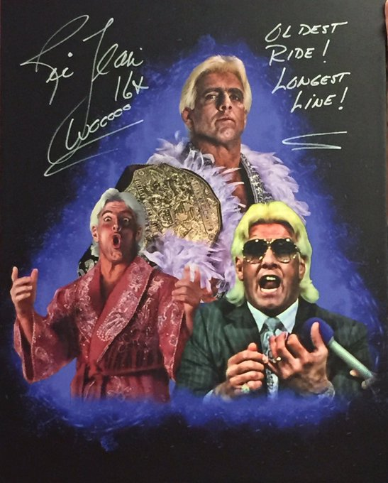 Happy birthday to the MAN, the greatest World champion of All-time, Woooooo, the Nature Boy ( by God ) Ric Flair.