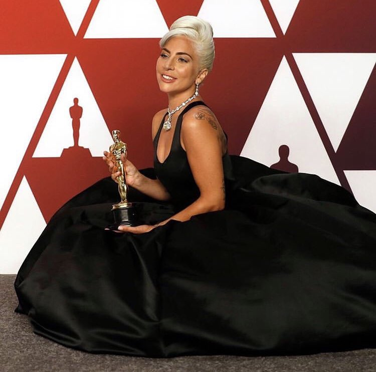 Ladies and Gentleman, Lady Gaga is now the first artist in history to win at the BAFTA's, Golden Globe, Grammy's and the Oscars in a single award season!  #ladygaga #Oscar2019 #Grammy2019 #GoldenGlobe #Shallow #AStarIsBorn<br>http://pic.twitter.com/BxkhsQmUNM