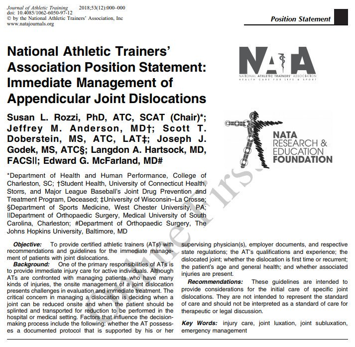 Journal of Athletic Training on Twitter:
