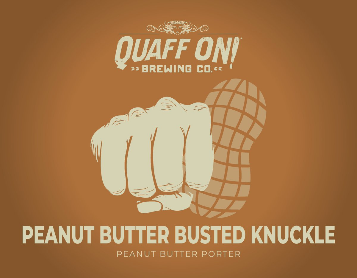 Februarys almost over, so hurry over for your last shot at a $3 pint of Quaff ON!s Peanut Butter Busted Knuckle! Its our Monday beer of the month special, and by next Monday, itll be March, and a new beer will be $3 on Mondays!