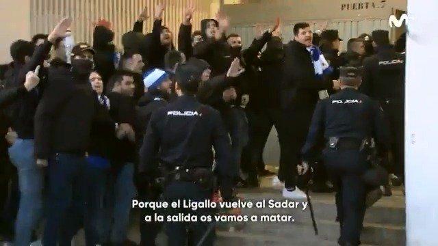 """""""Vuelve al Sadar y a la salida os vamos a matar"""". Los ultras del Zaragoza en su visita a Osasuna."""