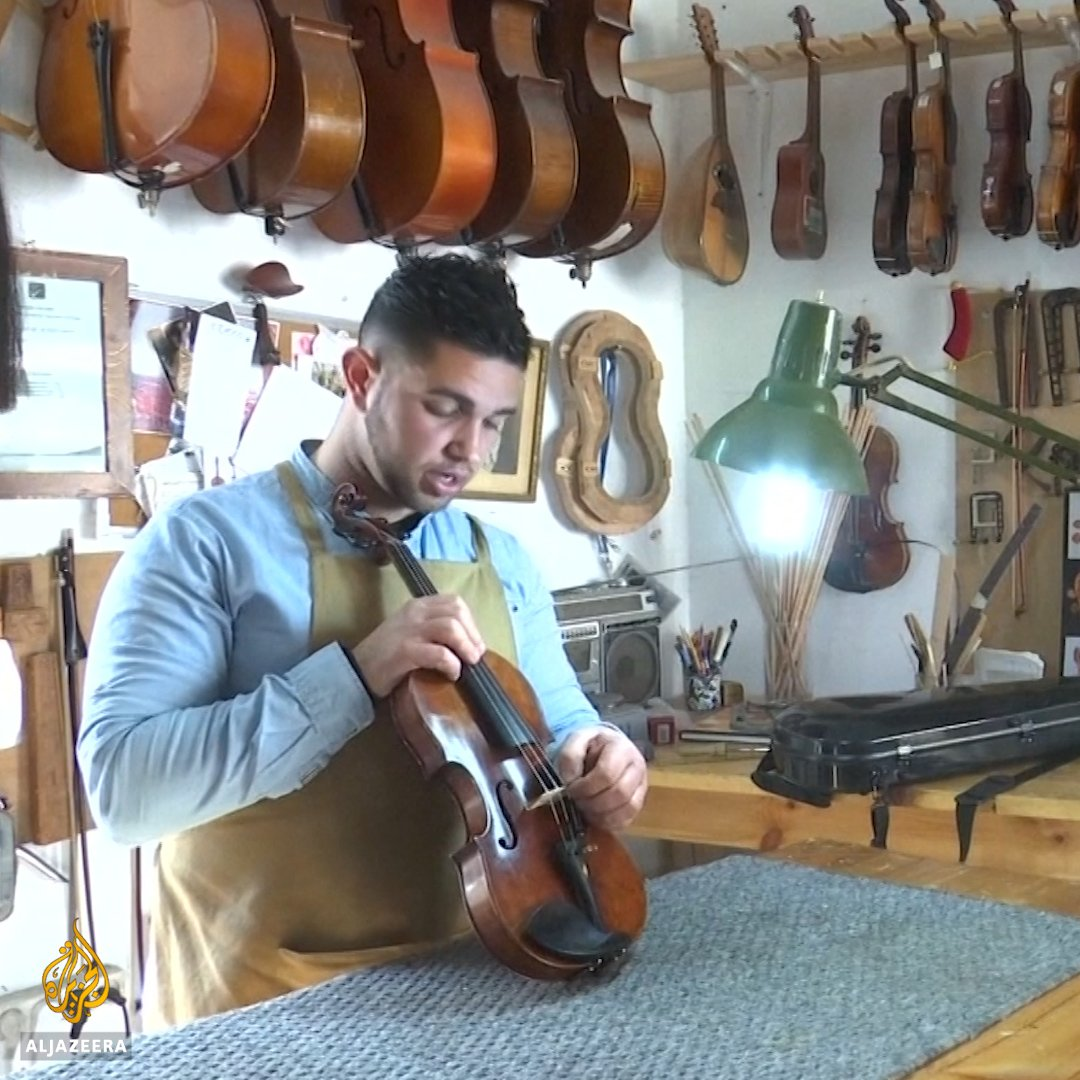 Meet Palestine's violin-maker, working from his small workshop in Ramallah 🎻