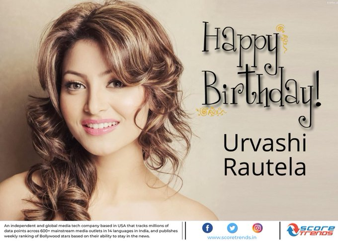 Score Trends wishes Urvashi Rautela a Happy Birthday!!