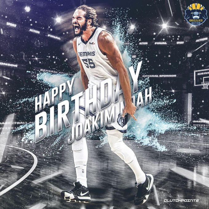Join Grizzlies Nation in wishing Joakim Noah a happy 34th birthday!