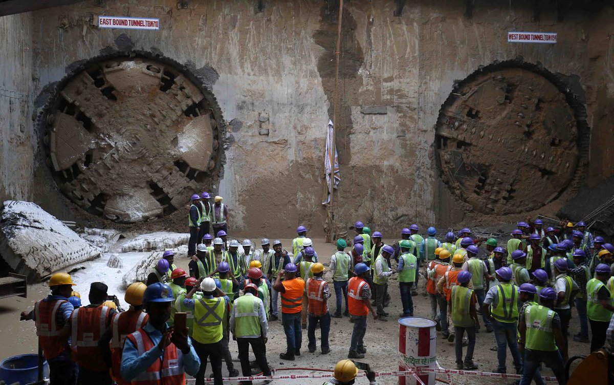 Breakthrough of first underground tunnel for Ahmedabad Metro rail project achieved