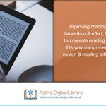 Improving reading comprehension takes time & effort, but it can be done. Incorporate reading into your daily life, this way comprehension will become easier, & reading will become more fun. . . . #tips #astrialibrary #ebook #digital #library