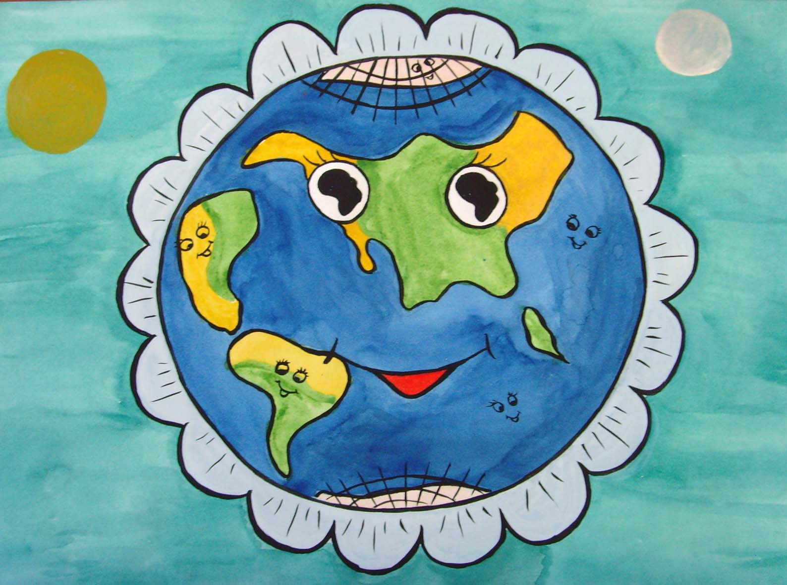 рисунок на тему зеленая планета картинки