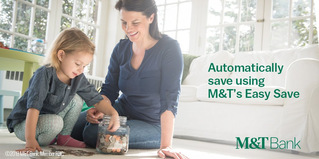 M&T's Easy Save program allows for easy saving through automatic transfers. Learn more: http://bit.ly/2lTaUIy #ASW19