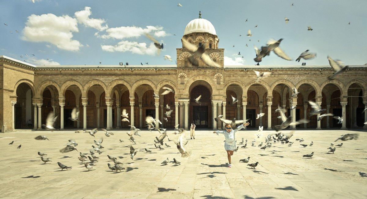 Unesco On Twitter Little Mariem Seems To Rush Towards Her Future In Front Of Al Zaytuna Mosque In Tunis Discover Alsafarproject In The Footsteps Of Ibnbattuta Al Zaytuna Mosque Tunis Tunisia C Yan Bighetti De