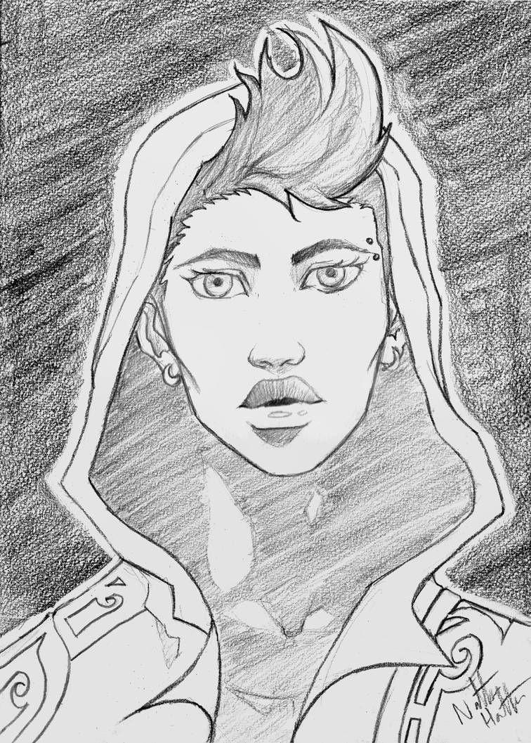 This drawing of Lirika is almost four years old! I wonder how I'd approach it if I did it now - not just from a skill standpoint, but also considering we're now five chapters in and know a lot more about Lirika now...   #arksong #artist #art #artwork #illustration #drawing