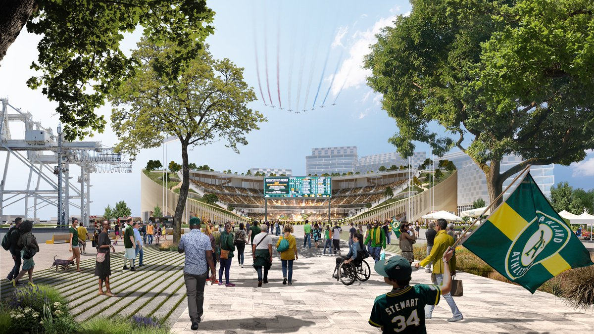 Since the initial positive response to our preliminary concepts for the new Howard Terminal ballpark at Jack London Square, we've continued to meet with public officials, fans, and community members to gather more input and refine our designs. The result is a new circular shape.