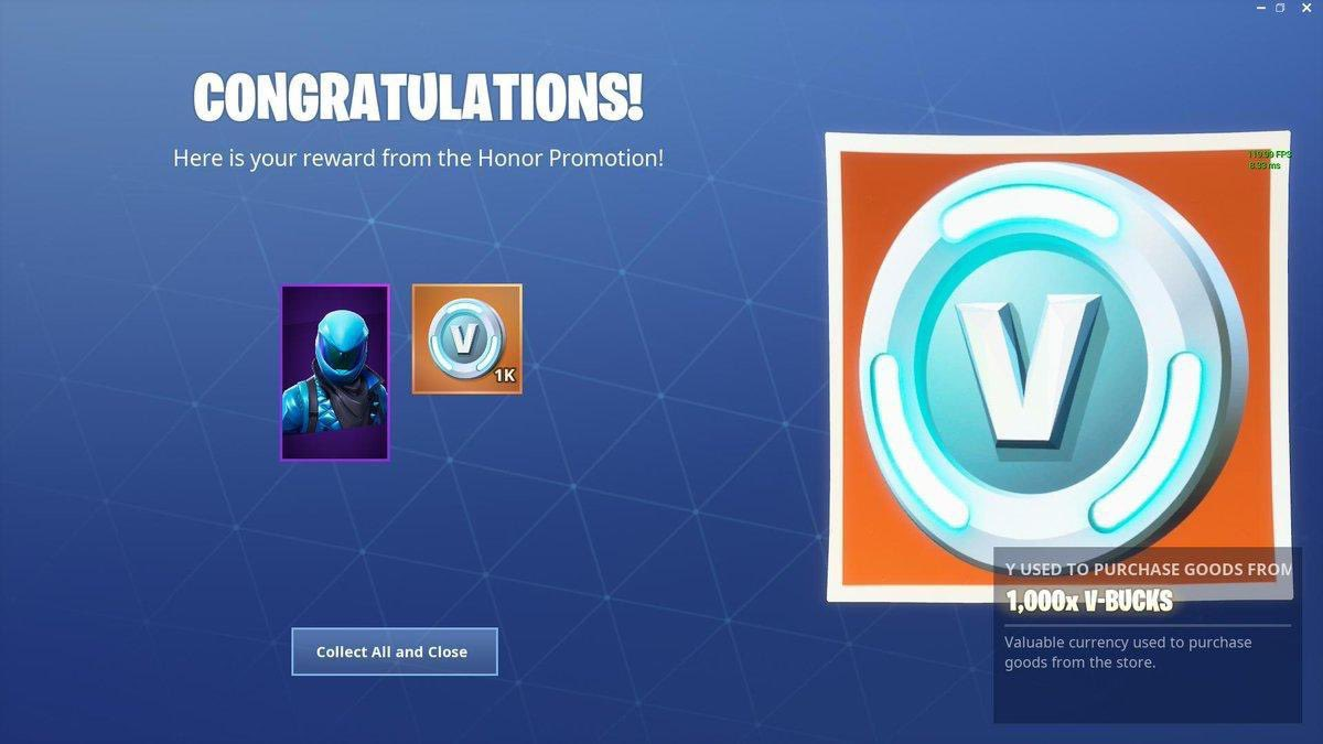 Fortnite News On Twitter News You Will Now Receive 1 000 V Bucks