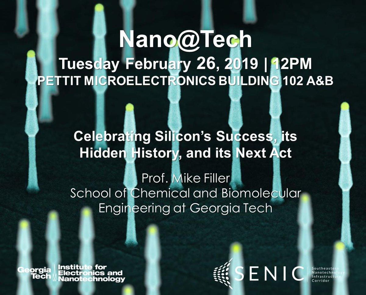 Nanotech At Ga Tech Ien Gatech Twitter